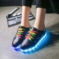 NEWWEST 2017 Fashion women Led Luminous Shoes casual Shoes Fashion USB Charging Adult LED Lights Shoe size 35-40