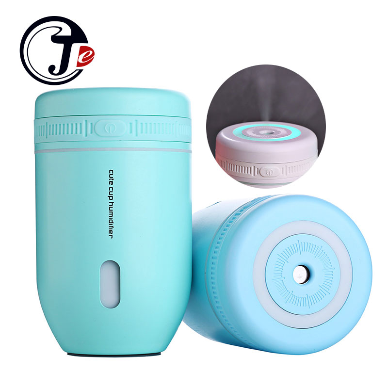 220ML Cup USB Air Humidifier Ultrasonic Humidifiers Car Mist Maker Aroma Essential Oil Diffuser with Lamp Household Appliances new led usb humidifier mini aroma diffuser air humidifiers with aroma lamp aromatherapy diffuser mist maker with led light 220ml