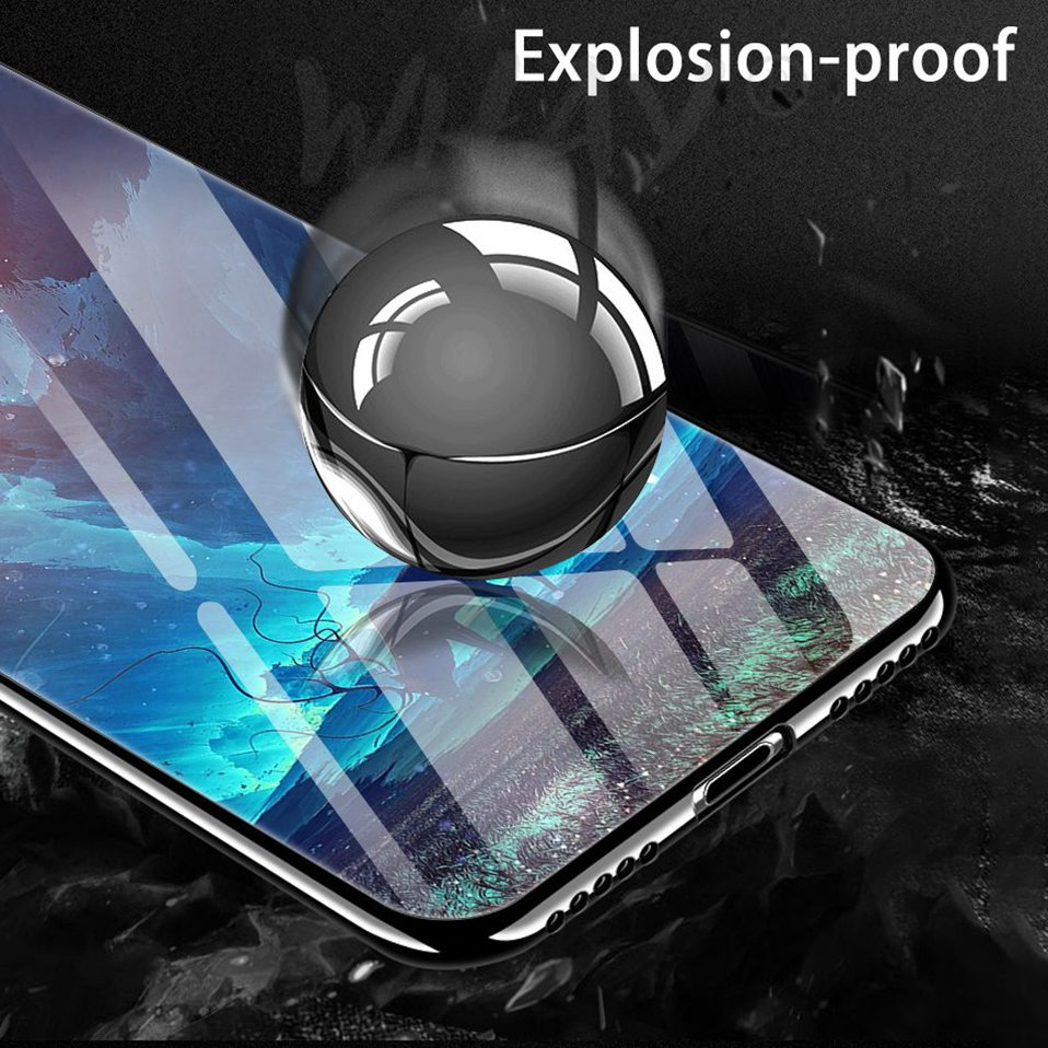 Phone Glass Case For Huawei Nova 3 2i Coque Silicone Luxury Case For Huawei P20 Pro Honor Play 7A 9 Mate 10 Lite P Smart Y6 2018 (6)