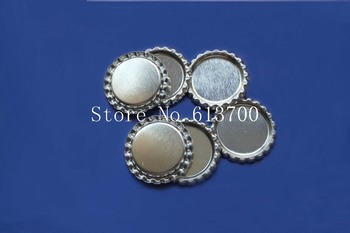 1100 pcs/lot Double Side Sliver Colored Fattened Chrome Bottle Caps For Jewelry accessories Without Hole фото