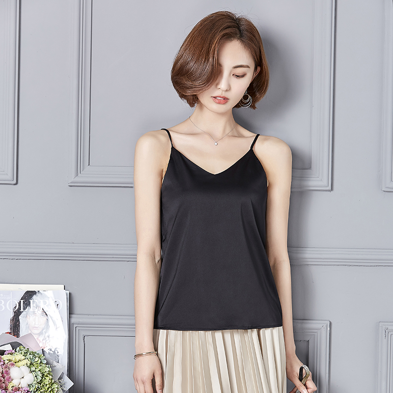 69111d76f9b Women sexy strapless camis tank tops 7 colors sleeveless shirts ladies  casual streetwear asymmetrical blouses blusas-in Camis from Women s Clothing  on ...