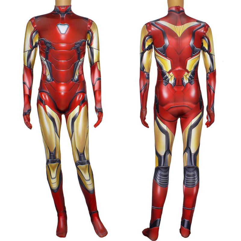 Image 4 - Iron Man Costume Adult Kids Endgame Superhero Costume Iron Man Cosplay Jumpsuit Halloween Costume For Adult Child Carnival Party