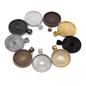 10pcs/lot 25 mm Cabochon Base Tray Bezels Blank  Gold Necklace Pendant Setting Cabochon Base For Jewelry Making Supplies 20pcs lot stainless steel cabochon blanks setting 6 25mm base tray bezels blank for diy bracelet pendant jewelry making supplies