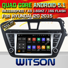 WITSON Android 5.1 Quad Core CAR DVD for HYUNDAI I20 2015 CAR STEREO NAVIGATION +1024X600 SCREEN+DVR/WIFI/3G+DSP+RDS+16GB flash