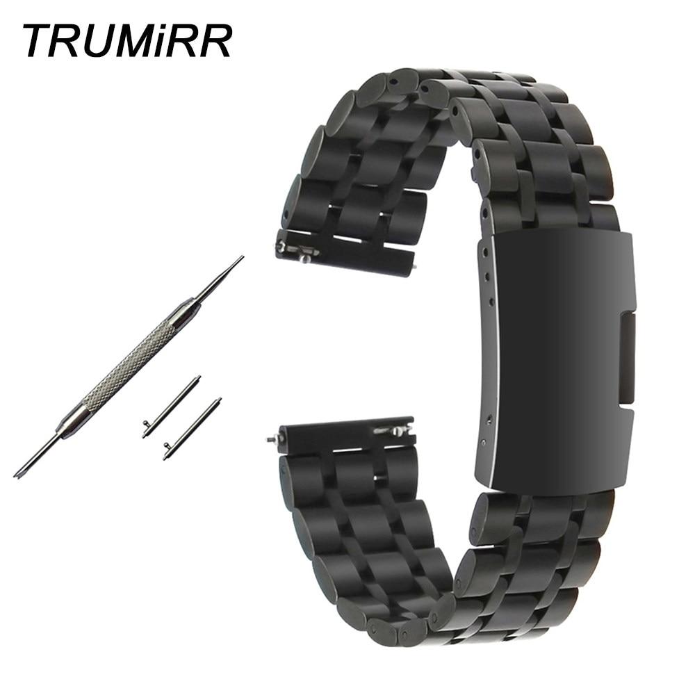 59654c34098 Pulseira de Aço Inoxidável Liberação rápida para Diesel DZ DW CK Famar Armani  Watch Band Alça