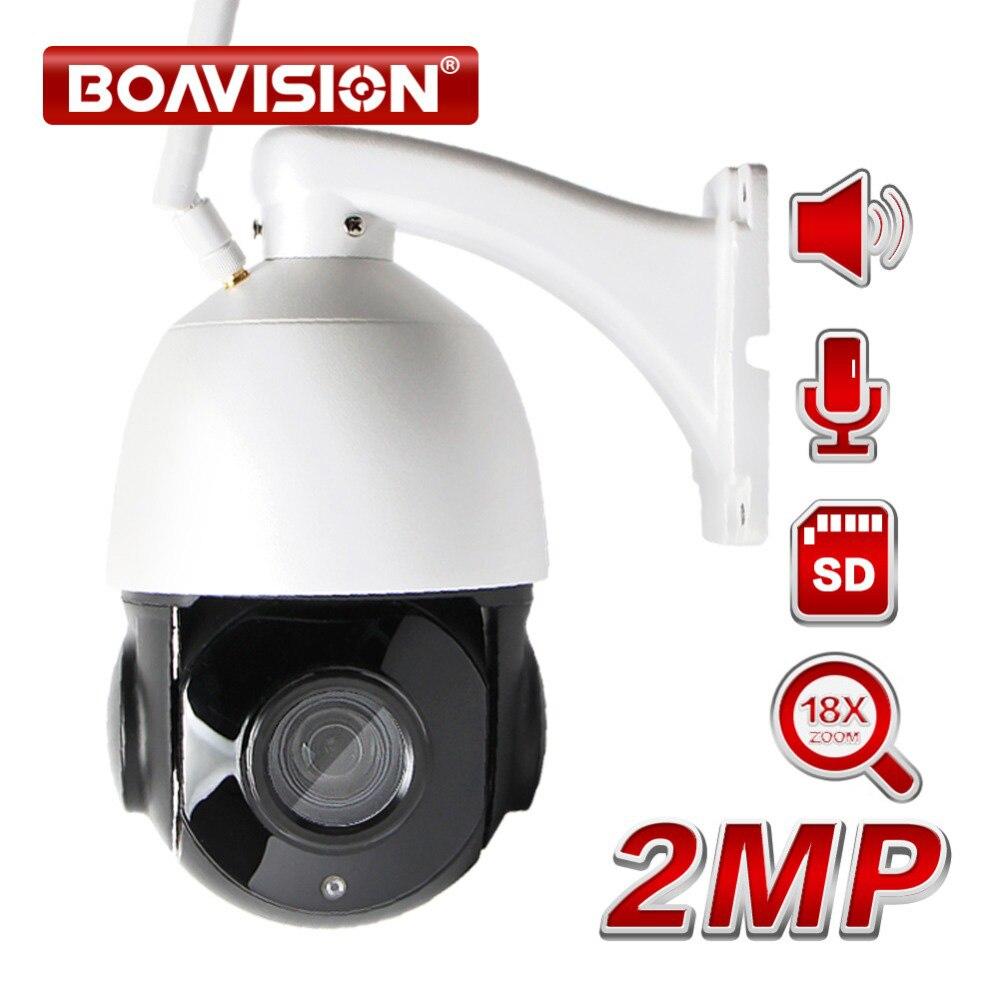 18X Zoom Wireless PTZ Speed Dome IP Camera 1080P WI-FI Outdoor IR 60M Network CCTV Security Camera Audio Talk Speaker TF Card 4 in 1 ir high speed dome camera ahd tvi cvi cvbs 1080p output ir night vision 150m ptz dome camera with wiper