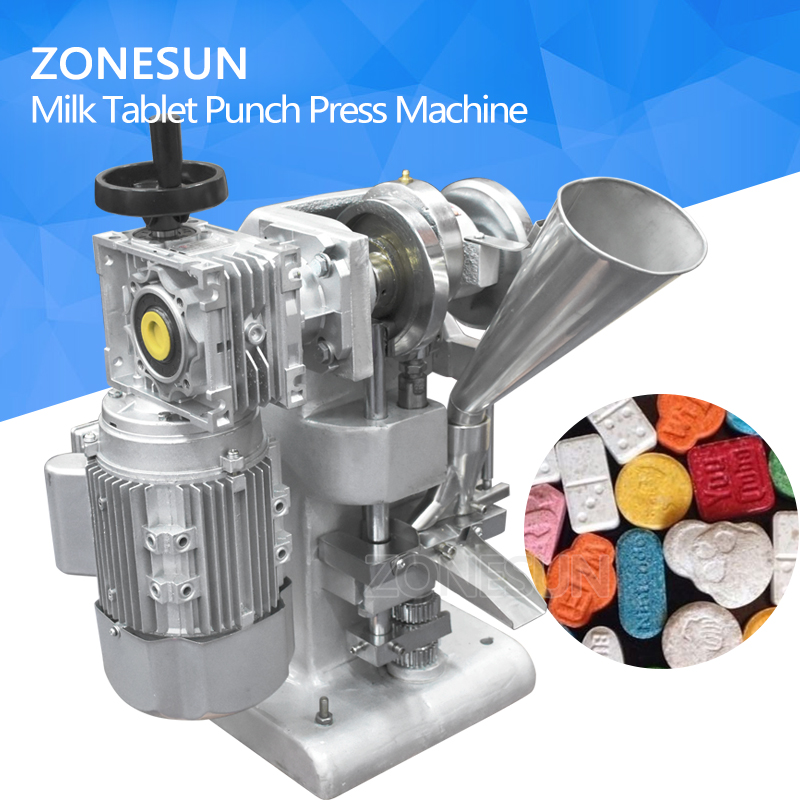 ZONESUN TDP 1 Max 10 мм Диаметр сахар таблетки Making 5000 шт. в час 40 кг/низкая Шум Тип молоко таблетки штамповочный пресс DIY Плесень
