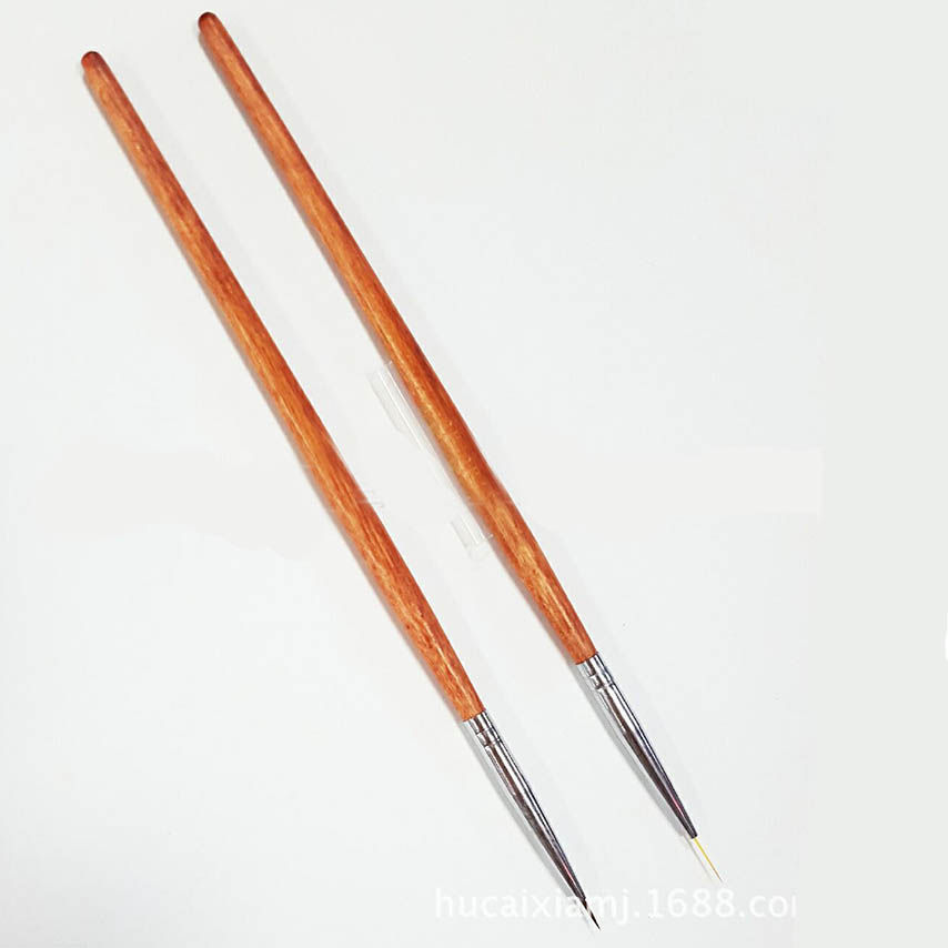 New Nail Art Brushes Ultra thin Wood Handle Painting Drawing Brush 6/9mm Lining Brushes Manicure Pedicure Tool Nails Beauty Gift