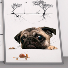 3D Dog Decorative Wall Stickers For Living Room Toilet Bathroom Decor Home Decoration Stickers On Car PVC Decal Mural Art Poster