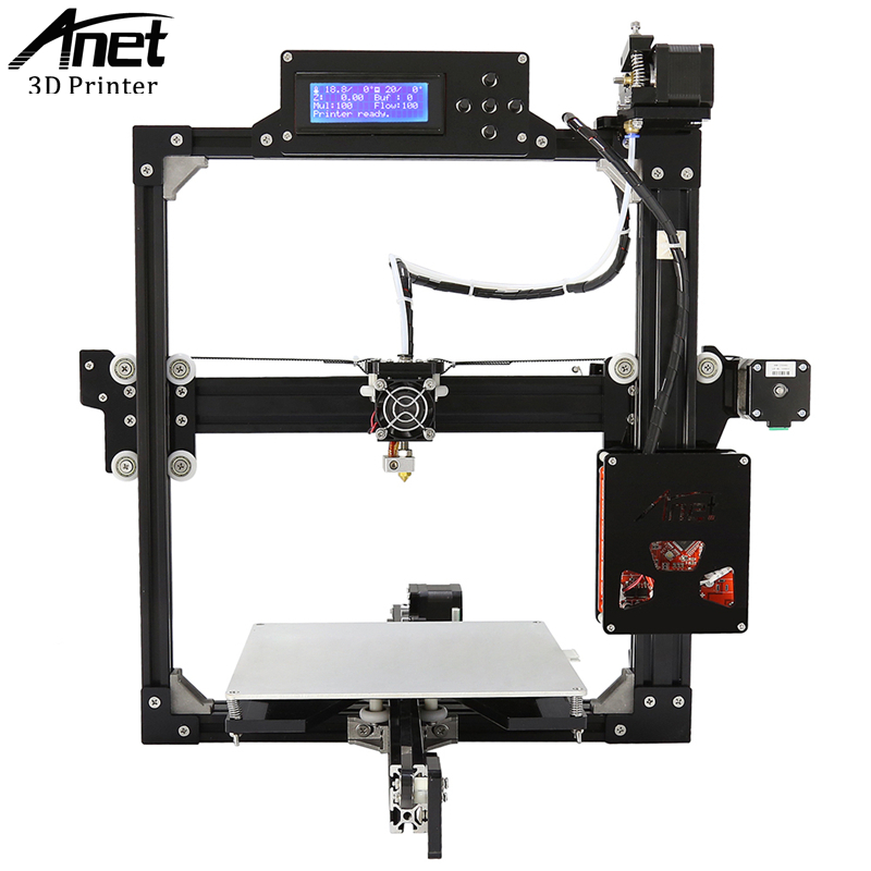 ANET A2 3D Printer Full Metal Frame High-precision 3D Printer KIT DIY Easy Assemble Filament 8GB TF Card 2004 LCD Screen anet a8 high precision 3d printer reprap prusa i3 precision with 2 rolls kit diy easy assemble filament 8gb sd card lcd screen