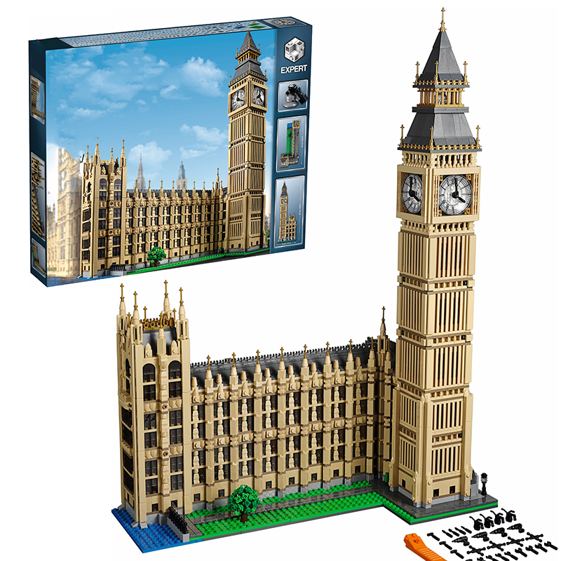 Lepin 17005 Big Ben building bricks blocks Toys for children boys Game Model Gift Compatible with Bela Decool 10253 hot sembo block compatible lepin architecture city building blocks led light bricks apple flagship store toys for children gift