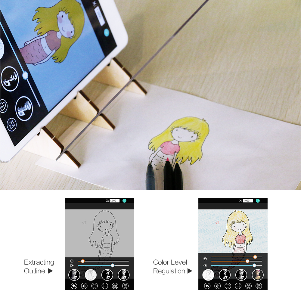 Indraw Sketch Drawing Board Tracing Light Pad with APP Artifact for Beginners Students Kids Sketching Drawing Animation