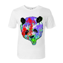Oil painting panda head printing men women unisex t shirt soft comfortable modal cotton