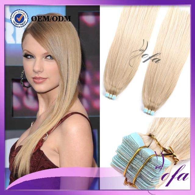 Human Hair Tape Extensions 8a European Cabelo Humano Fita Adesiva