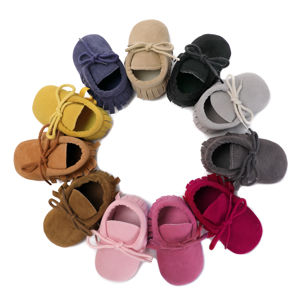 Baby Mokassins PU Wildleder Newborn Marke Baby Schuhe Mokassins Bebe - Babyschuhe - Foto 5