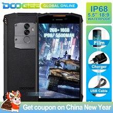 Hızlı kargo DOOGEE S55 Lite IP68 Su Geçirmez Smartphone 2 GB 16 GB 5500 mAh 5.5 inç Android 8.1 Çift Kameralar 13.0MP