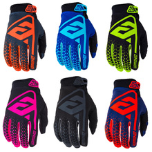 Cycling Gloves Full Finger Sport Shockproof Motocross MTB Bike Motorcycle Racing Gloves Man Woman Bicycle MX Long Finger Gloves cheap Polyester NYLON Viscose Stretch Spandex Breathable Gloves Mittens fluo green yellow Washable Universal