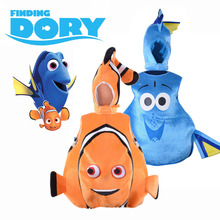 Finding Dory Costume Sea Friend Nemo and Dory Cosplay Suit Funny Clown Fish Fancy Dress Halloween for Children Adult Plus Size недорго, оригинальная цена