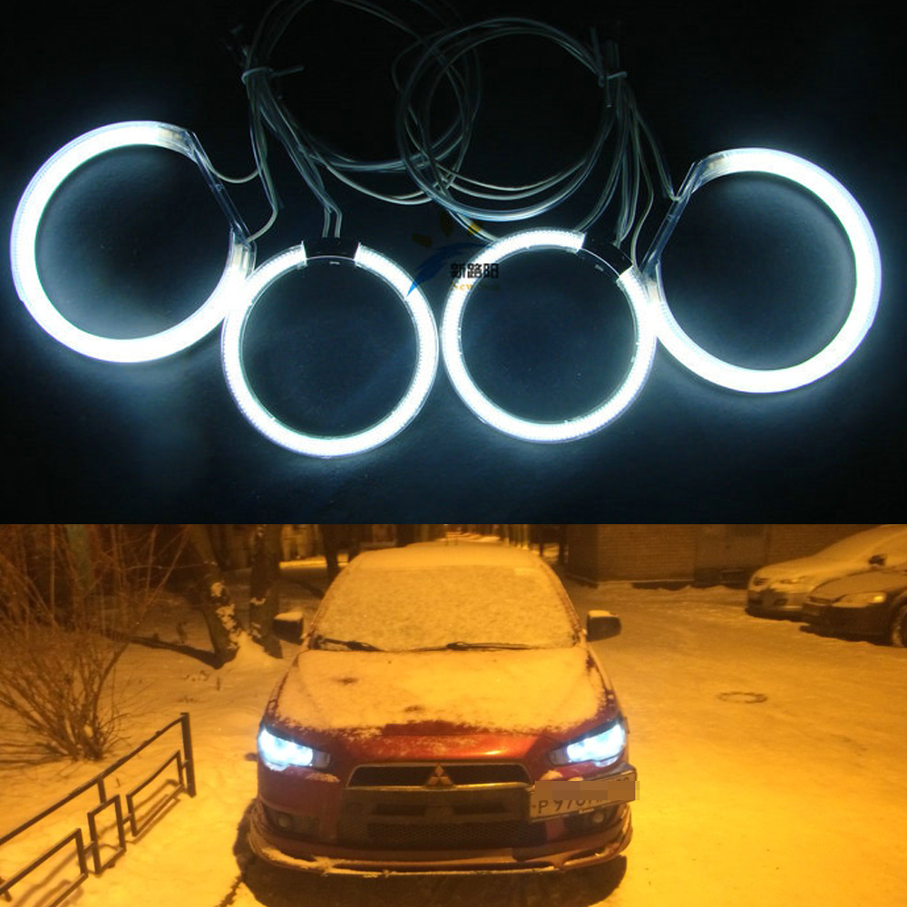 White Blue Red Green Multi-color CCFL Angel Eyes kit Halo Ring kit For Mitsubishi Lancer X Evo X 10 2007-2015 Halogen headlight ветровики prestige mitsubishi lancer 10 sd hb 07