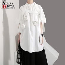 Blouse blanc solide Style