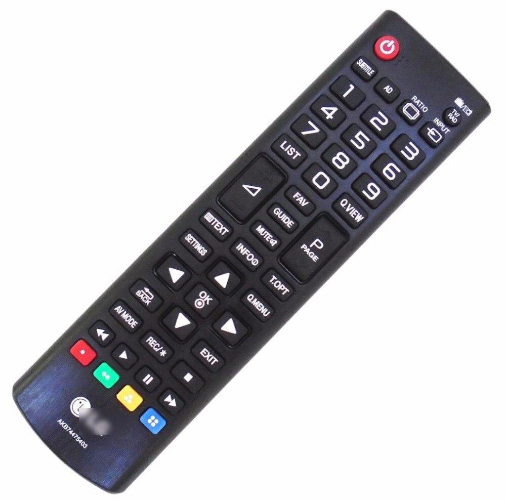 Terno de controle remoto para akb74475403 para lg led tv lcd