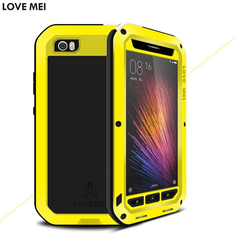 imágenes para Original Amor Mei de Aluminio del Metal de Gran Alcance Cubierta Del Caso Para Xiaomi 5 M5 Mi5 Cajas Del Teléfono Celular Para Xiaomi 5 Resistente A Prueba de Golpes