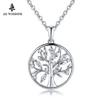 JO WISDOM 100 925 Sterling Silver Trendy Large Pendants For Jewelry Making Tree Of Life Wholesale