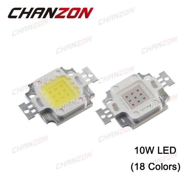 CHANZON Высокой Мощности ПРИВЕЛО Чип 10 Вт LED 10 Вт Природных Прохладный Теплый белый Красный Синий Зеленый УФ ИК Полный Спектр Светать Интегрированный Лампы