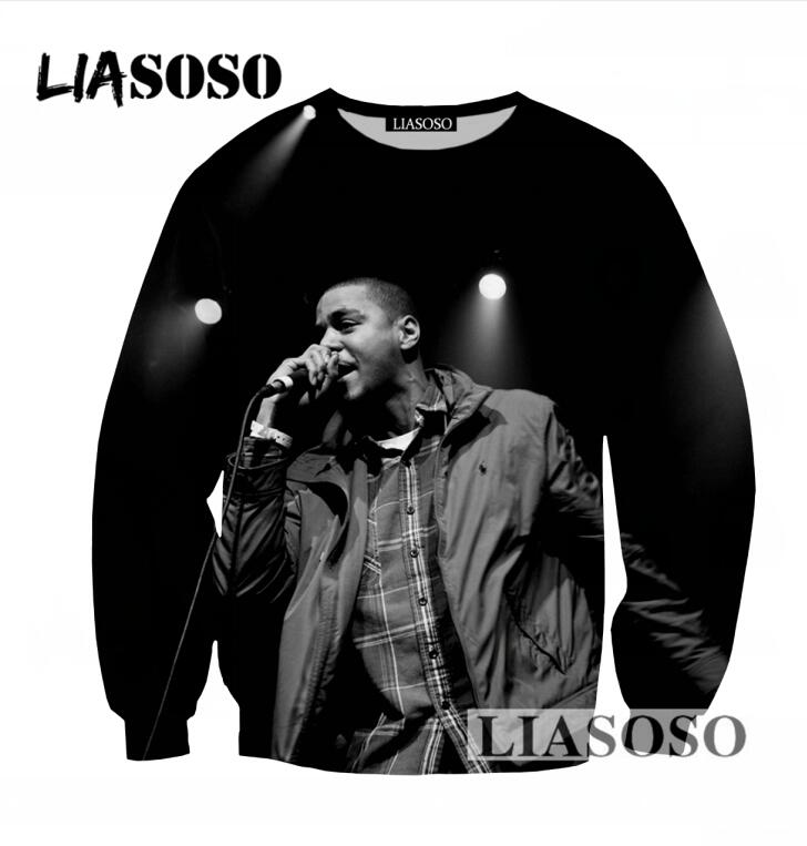 249fd54b531d LIASOSO Fashion Autumn Crew Neck Sweatshirt 3D Print J Cole Sweatshirt Cool  Long Sleeve Harajuku Pullovers Brand Clothing T751-in Hoodies   Sweatshirts  from ...
