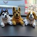 Bonito Cão Balançando A Cabeça Da Boneca Assentindo Decoração Ornamento Do Cão Animais De Estimação Para O Carro
