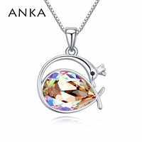 2017 phoenix pendant necklaces luxury jewelry accessories fine polishing mirror finish Crystals from Swarovski #110508
