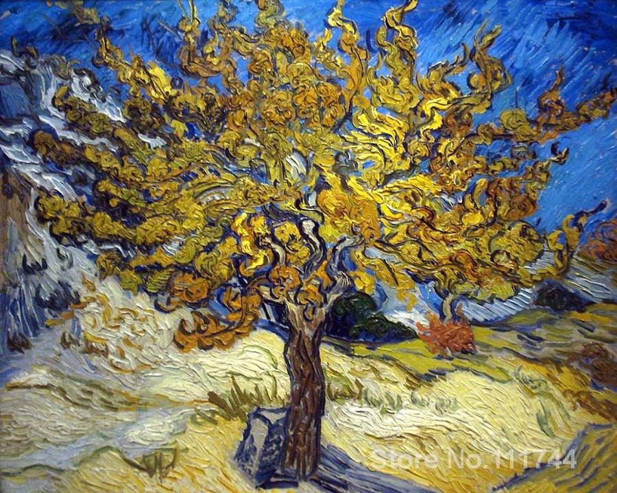 Modern art The Mulberry Tree in Autumn by Vincent Van Gogh paintings for living room Hand painted High qualityModern art The Mulberry Tree in Autumn by Vincent Van Gogh paintings for living room Hand painted High quality