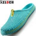 Keloch Men Shoes Sandals Men&Women Summer Style Clogs Models Hole Mules Women Shoes Garden Sildes Flat Slippers Shoes Men