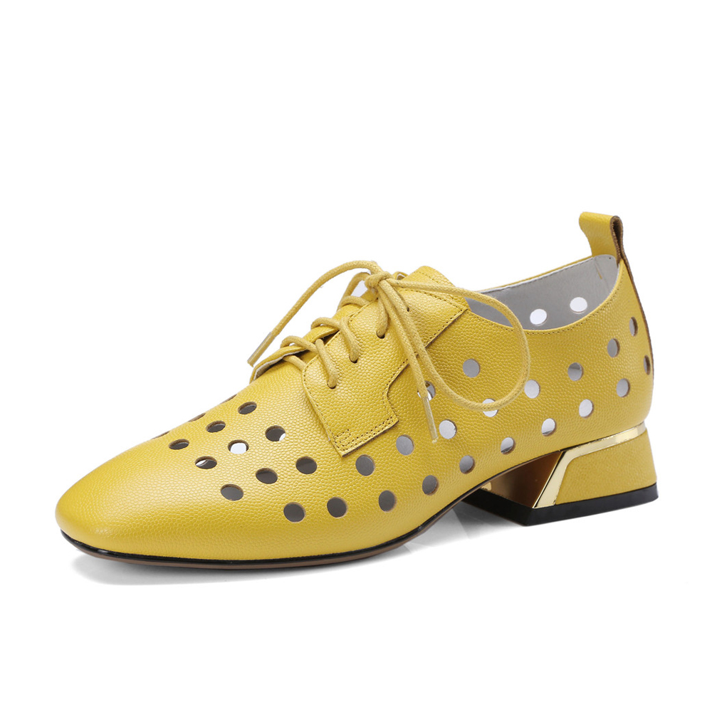 Hohl Handgemachte 3,3 cm Hohe Ferse Schuhe Lace up Frauen Aus Echtem Leder Schuhe Ferse Pumpen plus größe TN13 MUYISEXI-in Damenpumps aus Schuhe bei  Gruppe 2