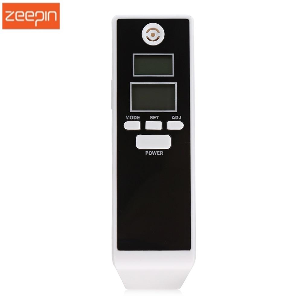 ZEEPIN High Sensitive New Digital Alcohol Tester Digital Alcohol Detector Breathalyzer With Dual LCD Backlight Display