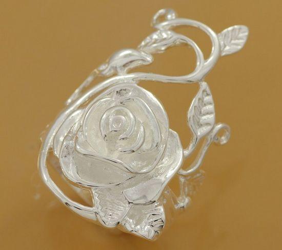 R210 טבעת כסף מצופה כסף, טבעת תכשיטי אופנה כסף טבעת אופנה