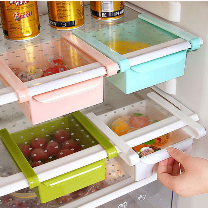 Caja de almacenamiento de refrigeradores tipo Twitch Fresh Spacer Layer Multifuction Storage Rack Glove Box C