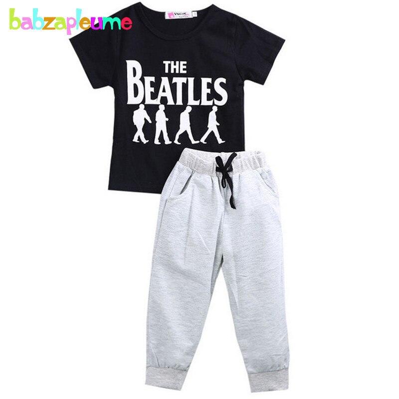 Fashion Children's Clothing Infant Print T-shirt+Pants 2pcs Sets Baby Boys Sport Suit Kids Tracksuit Toddler Boy Clothes BC1109