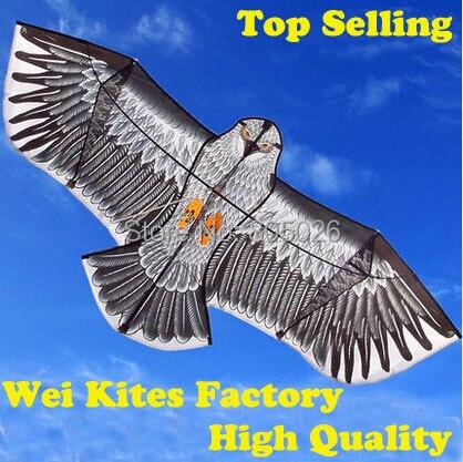 Envío gratuito with100m manejar línea diversión al aire libre deportes 1,6 M águila volando más alta calidad cometas grandes wei cometas de fábrica
