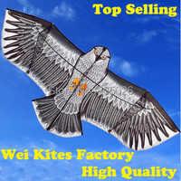 Freies Verschiffen with100m griff Linie Outdoor Fun Sport 1,6 m Adler Kite hohe qualität fliegen höher Große Drachen wei drachen fabrik