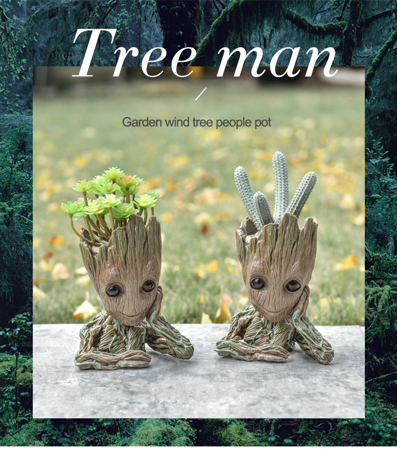 Baby Groot Flower Pot Suitable for Living Room Bed Room and study Room for Full Greenery in House 7
