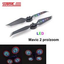 STARTRC hélices de Flash LED para Dron, DJI Mavic 2 pro, bajo ruido, liberación rápida, Cargador USB