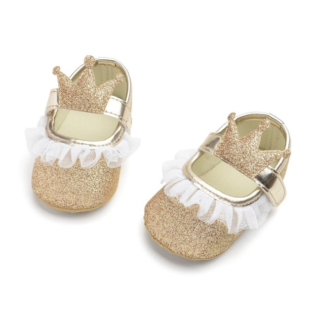 2019 Fashion Princess Baby Girls Shoes Crown Shaped Newborn Infant Toddler Soft Bottom First Walker  4