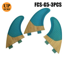 Free Shipping Honeycomb Fin Bamboo Base Surf FCS Fins