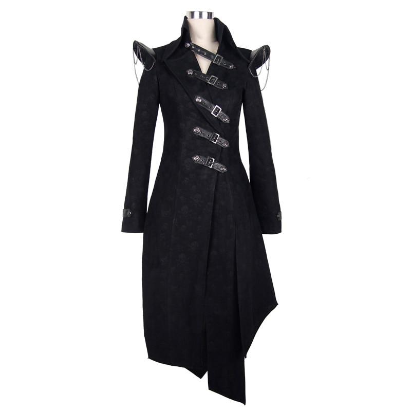 Devil Fashion Heavy Punk Rock Asymmetrische Langjacke Mäntel für - Damenbekleidung - Foto 4