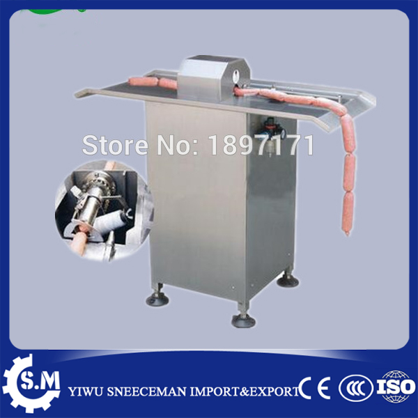 semi-automatic pneumatic sausage bundle machine wrapper Sausage processing machinery factory directly sale