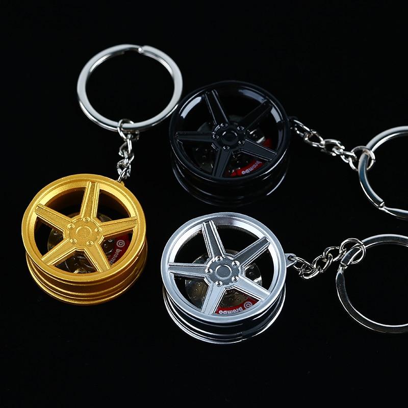 MB KV1 Metal Zinc Alloy Wheel Rim w/ Disc Brake Tuning Keychain Key Chain Keyring Keyfob Pendent Men Women Gift JDM 1PCS
