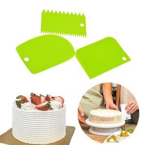 3PCS/Lot Cream Scraper Irregular Teeth Edge DIY Scraper Cake Decorating Fondant pastry cutters Baking Spatulas Tools(China)