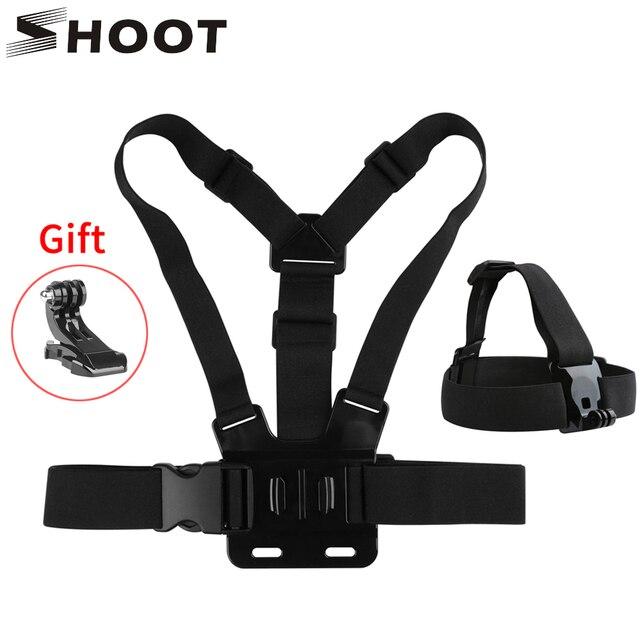 SHOOT нагрудный ремень для крепления на голову для GoPro Hero 9 8 7 5 Black Xiaomi Yi 4K Sjcam M10 Sj8 pro Eken H9 Dji Osmo аксессуары для действий