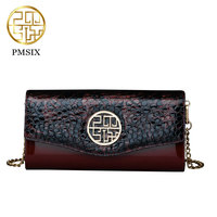 Pmsix 2017 Chinese Style Women Crossbody Bag Shoulder Bags Crocodile Pattern Envelope Evening Bags Small Banquet